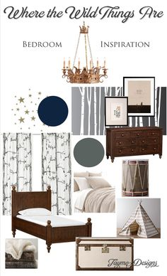 This is my favorite inspiration board to date! // Inspiration Board : Where the Wild Things Are Bedroom | Jayme Designs
