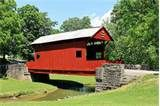 The Ebenezer Bridge is located in Mingo Creek Park in Washington County, PA. It is one of two covered bridges in the park.