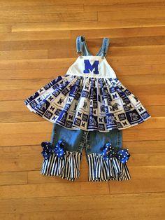 Size 2 University of Memphis overalls