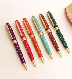 Retro, Dot Metal Pens by holly