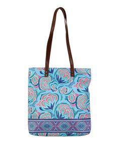 Amy Butler Azure Oasis Leather-Blend Carmen Organic Tote | zulily
