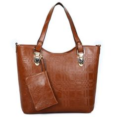 Sale 14% (53.74$) - Women Second Grade Leather Tote Bags Casual Shoulder Bags Shopping Bags 2 Pcs