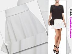 80 Modelos de Saias Feminina que Esta na Moda 2015 saia branca em gode