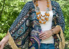 Easy Sewing Projects to Sell - DIY Fringed Kimono - DIY Sewing Ideas for Your Craft Business. Make Money with these Simple Gift Ideas, Free Patterns, Products from Fabric Scraps, Cute Kids Tutorials http://diyjoy.com/sewing-crafts-to-make-and-sell