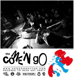 'The COME 'N GO' from Biel Switzerland, that's in between the French speaking and the german speaking part, and normaly people from this region have big problems .. so the Come n' Go guys have... they are pissed off teens did playing dirty rock'n'roll from early childhood on in such bands as Pussy Hunter, Muchos Burritos, or the still rockin: The Titty Twisters... from 2001 they decided to play in only one band but this with even more pissed of Blues Trash and primitive rockin power