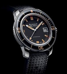 With the new Fifty Fathoms Barakuda, Blancpain revisits one of its diving watches from the end of the the Barakuda. The Blancpain Fifty Fathoms Barakuda ref. High End Watches, Cool Watches, Unusual Watches, Cheap Watches, Fifty Fathoms, Watch Blog, Watches Photography, Expensive Watches, Beautiful Watches