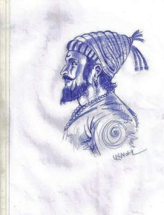 Shivaji Maharaj Tattoo, Shivaji Maharaj Painting, Shivaji Maharaj Quotes, Warriors Wallpaper, Shiva Wallpaper, Ice Painting, Painting & Drawing, Pencil Sketch Drawing, Pencil Drawings