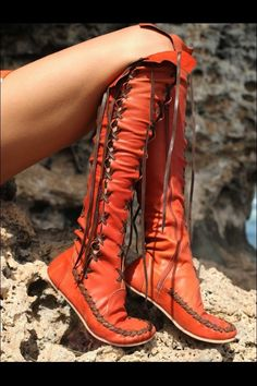Ericdress Unique Lace-up Knee High Boots 7