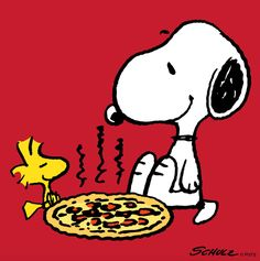 Snoopy and Woodstock Eating Pizza Snoopy Cartoon, Peanuts Cartoon, Peanuts Snoopy, Meu Amigo Charlie Brown, Charlie Brown Und Snoopy, Peanuts Characters, Cartoon Characters, Japanese Characters, Snoopy Und Woodstock