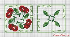 Cross-stitch Biscornu Cherries Set. .. no color chart available, just use pattern chart as you color guide... or choose your own colors... Хочушки со схемами и без: Фото альбомы - Страна Мам