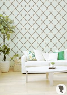 Moroccan Pattern Self Adhesive Removable Wallpaper door Livettes