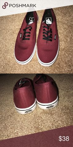 Maroon vans Never worn(still have part of tag on them) women US 6 men US 4.5 Vans Shoes