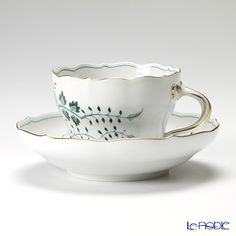マイセン(Meissen) インドの鳥 グリーン 341310/00582コーヒーカップ&ソーサー 200cc