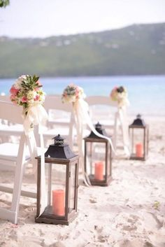 coral beach wedding aisle decoration ideas
