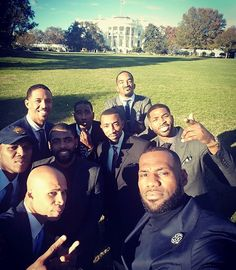 Never thought in a million years I would stand in the front lawn of the White House! Beyond blessed with some of my woes!! #StriveForGreatness #RWTW #TheKidFromAkron