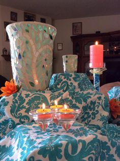 Just one way to display your Vine Hurricane with our newest collection of bright candles. www.partylite.biz/nevergiveup
