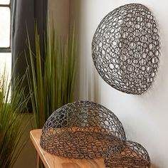 Interior HomeScapes offers the Half Circle Wire Ball - Bronze by Gold Leaf Design Group. Visit our online store to order your Gold Leaf Design Group products today. House Plants Decor, Plant Decor, Unique Wall Art, Unique Home Decor, Hello Walls, Gold Leaf Design Group, Paper Collage Art, Laser Art, Half Circle
