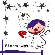 Kerstkaart CliniClowns Sterren, verkrijgbaar bij #kaartje2go voor €1,89