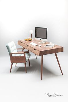 Rina Walnut desk on Behance