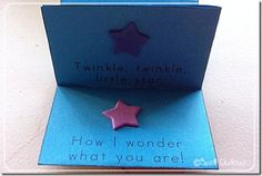 Twinkle, Twinkle Little Star printable mini-booklet #ece #homeschool