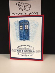 Stampin' Up! Dr Who birthday card