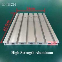 Cnc máquina de grabado colgante de aluminio placa de mesa de trabajo placa de 20 mm de espesor alta resistencia perfil de aluminio 625 * 240 mm(China (Mainland))