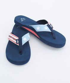 Flag Flip Flops for the Fourth of July