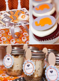 elephants & alphabets baby shower