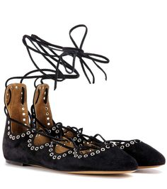 mytheresa.com - Leoni suede ballerinas - Luxury Fashion for Women / Designer clothing, shoes, bags