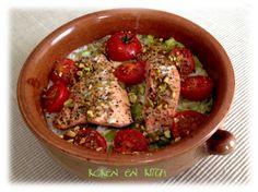Koken en Kitch: Zalm met prei en tomaat uit de oven