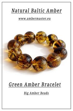 Stretchy green natural baltic amber beaded bracelet for adults, soil inclusions, inside Amber Beads, Amber Jewelry, Amber Bracelet, Beaded Bracelets, Amber Stone, Baltic Amber, Bracelet Making, Simple Designs, Special Occasion