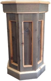 PD401 - 16x16x30h Rustic Cedar via Custom Taxidermy Woodworks. Click on the image to see more!