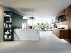 Modern - Kitchen - Design | Jaguar Green Satin | Old Oak | Next 125 German Kitchens #germankitchens #kitchendesign #next125 #luxurykitchens