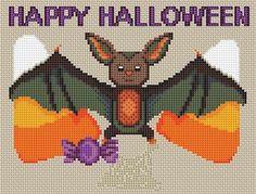 halloween bat cross stitch patterns