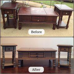 before & after furniture make over!