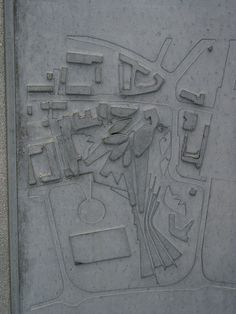 Cast site plan detail, Scottish Parliament designed by Enric Miralles