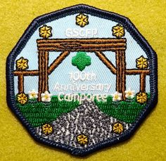 Girl Scout 100th Anniversary patch. Girl Scouts of the Florida Panhandle Camporee. A wonderful surprise from Michelle!