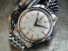 COLLECTOR CONDITION 1960 STEEL OMEGA CONSTELLATION GENTS VINTAGE WATCH -3400 EURO