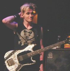 Mikey Way, My Chemical Romance...is he grinning? Or is it just me??