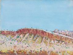 Fred Williams Hamersley landscape , 1979 gouache on paper Australian Painting, Australian Artists, Abstract Landscape, Landscape Paintings, Landscapes, Fred Williams, Cool Artwork, Art Forms, Gouache