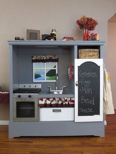 Picture of Entertainment Center to Awesome Kitchen Play Set
