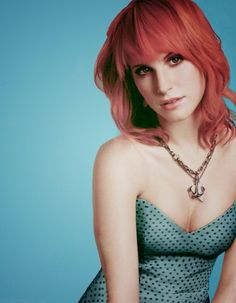 Hayley Williams Polka dot dress.  Love this color dress with the red hair.