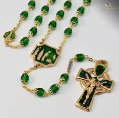 Our Lady Of Knock Gold Plated Apparition Rosary By Ghirelli