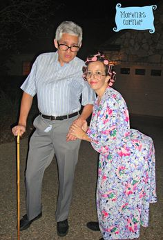 10 Genius Last Minute #Halloween #Costumes  from your closet at the36thavenue.com  ...Eek!...OLD COUPLE!!!