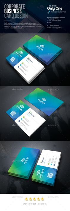#Corporate #Business #Card - Corporate Business Cards Download here: https://graphicriver.net/item/corporate-business-card/20299094?ref=alena994