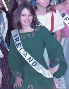 Nuala Holloway representing Ireland at the Miss International Pageant in Okinawa, Japan 1975 - Her first TV interview will take place on 19 November 2015 on 'Comhrá' on Ireland's TG4 where she will discuss, in the Irish language, her life and career as a teacher, actress, model, former Miss Ireland and artist! #MissIreland #Ireland #MissInternational