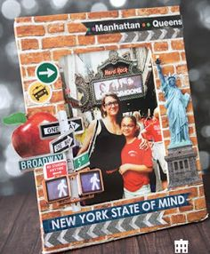 Dress up an old photo frame by sticking on some New York themed scrapbooking die cuts available from Sunshine Scrapbooking. Perfect to house a fabulous memory. New York Scrapbooking, Travel Scrapbook, Hard Rock, Old Photos, Memories, Shapes, Baseball Cards, Frame, Blog