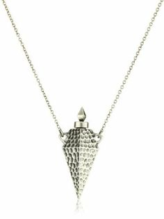 House of Harlow 1960 Hammered Diamond-Shaped Vessel Pendant Necklace House of Harlow 1960. $125.00. Keep away from moisture. Made in USA. Keep away from moisture Made in USA. Silver plated