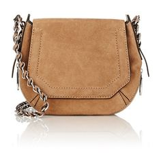 Rag & Bone Bradbury Mini Hobo ($550) ❤ liked on Polyvore featuring bags, handbags, shoulder bags, nude, genuine leather hobo handbags, leather purse, chain shoulder bag, hobo shoulder bag and mini purse
