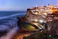 Azenhas do mar is a small coastal village just outside Sintra, Portugal.